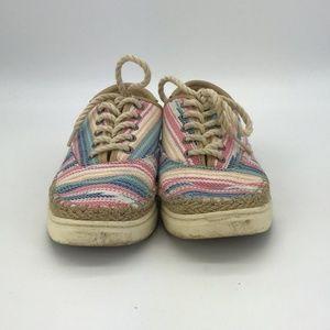 UGG Tan & Multi Color Stripes Sneakers Size 6